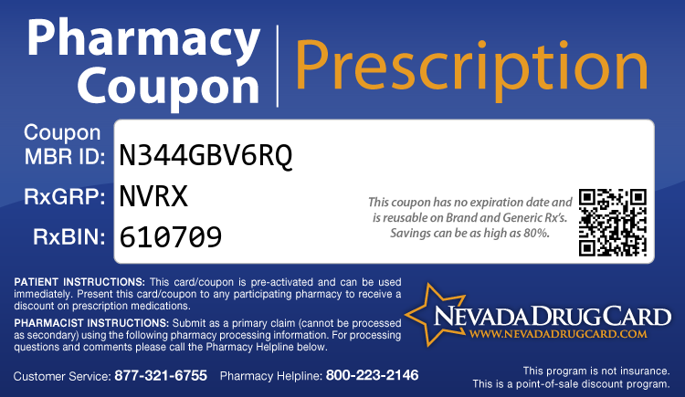 Nevada Drug Card - Free Prescription Drug Coupon Card
